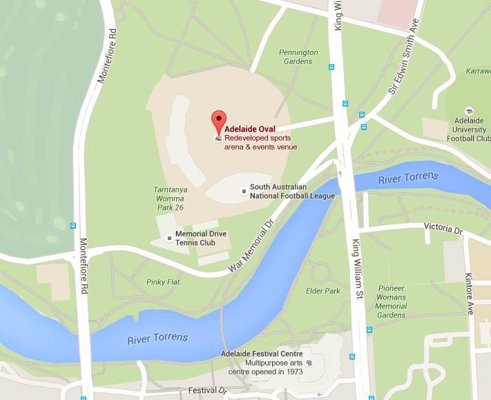 Adelaide Oval Map Adelaide Oval SMA Limited   Adelaide Oval network exemption  Adelaide Oval Map